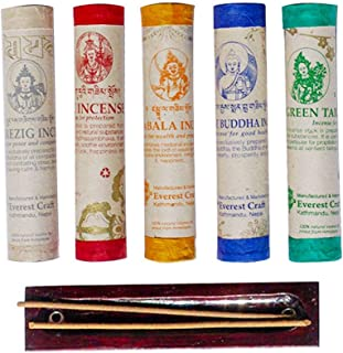 Incense Sticks ~ Hand Rolled Incense Made from Organic Himalayan Herbs for Healing. Incense for Pressure Relief, Relax and...