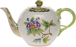 Herend Queen Victoria Tea Pot With Butterfly