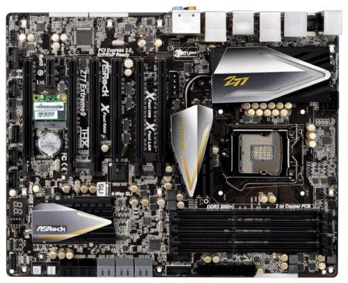 ASROCK LGA1155/Intel Z77/DDR3/Quad CrossFireX and Quad SLI/SATA3 and USB 3.0/A&V&GbE/ATX Motherboard Z77 EXTREME9