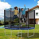 Merax - Trampolin Outdoor mit Sicherheitsnetz Außennetz und Einstiegsleiter Gartentrampolin (305 cm)
