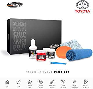 Color N Drive | Toyota 1H2 - Cosmic Gray Mica/Dark Steel Mica Touch Up Paint | Compatible with All Toyota Models | Paint Scratch, Chips Repair | OEM Quality | Exact Match | Plus