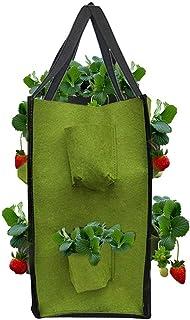 EZIZB Sac de Plantation Fraisiers Plantes Aromatiques,Plant Grow Bag Pocket Plantation Sacs L/égumes avec 4//8 Poches Lat/érales pour Les Fraises Herbes Fleur de Pomme de Terre Carotte Tomate Oignon