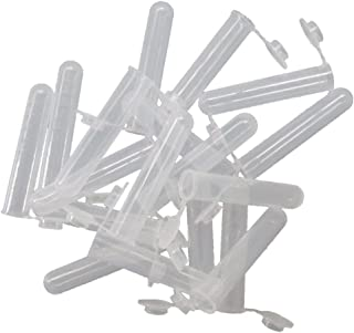 JIUWU 10mL Plastic EP Vial Tube Sample Storage Container Liquid Centrifuge Tube Pack of 50