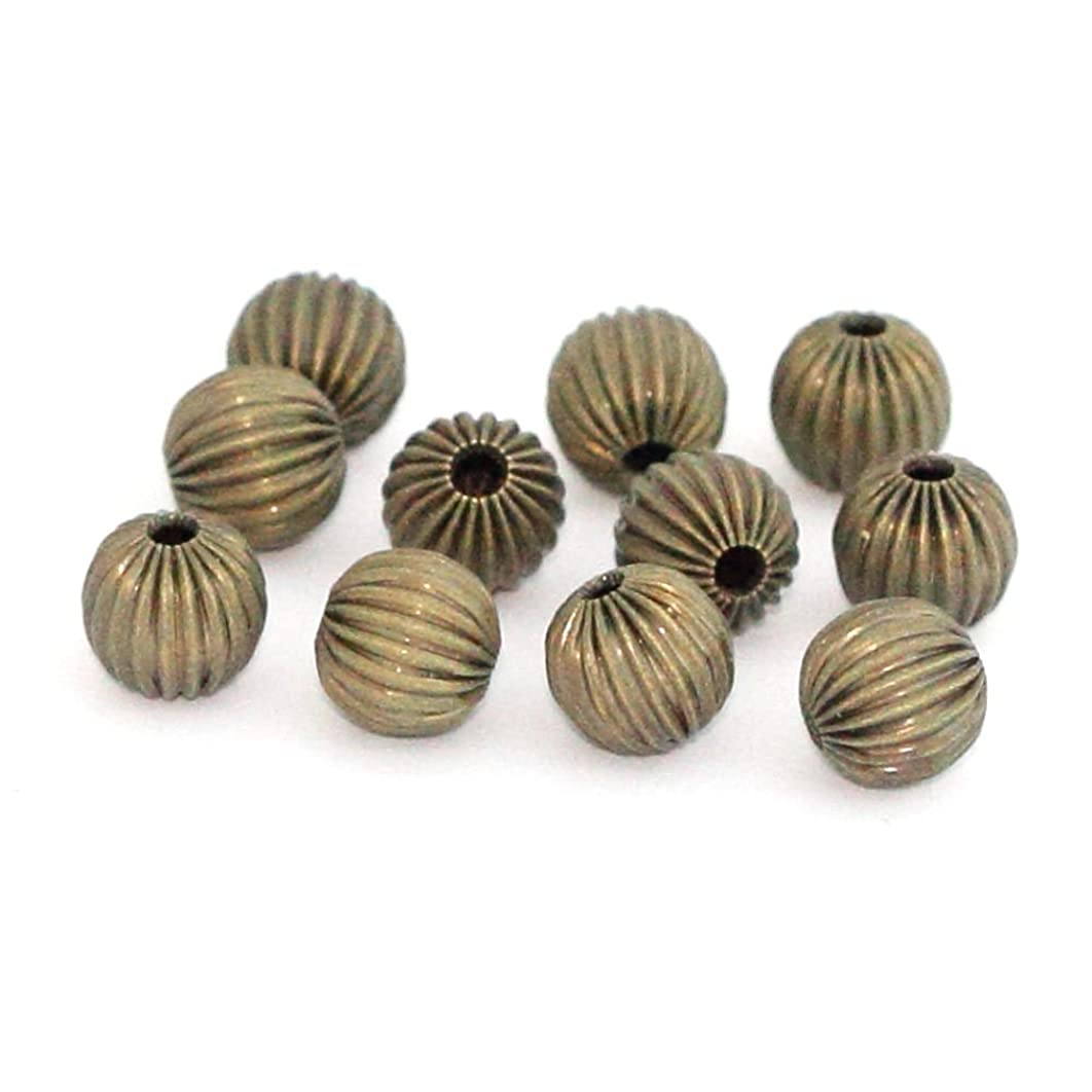 200pcs Beautiful Mellon Spacers 3mm Small Loose Round Metal Beads Antique Bronze Plated Brass for Jewelry Craft Making CF117-3