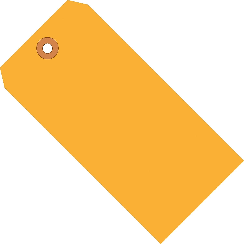 Fluorescent Orange Shipping Tags, 13 Pt, 3 1/4