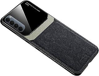 جراب لهاتف Oppo Reno 4 Pro من الجلد الناعم من السيليكون غطاء حماية زجاجي Reno4 Pro - أسود