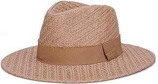 ZiWen Lu Summer Sun hat Refreshing Sunscreen Cool hat Handmade Wooden Anti-Real Straw hat (Color : Brown)