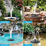 UTOPB Upgraded Solar Fountain Pump, 1.5W Free Standing Floating Solar Powered Fountain Pump Kit Submersible Outdoor, for Bird Bath, Small Pond, Swimming Pool, Garden 6