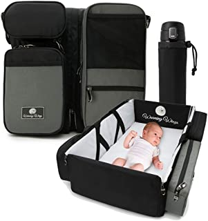 Multipurpose Portable Baby Changing Mat: Diaper Bag, Foldable Travel Bassinet, Playpen & Storage