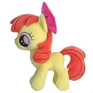 huobeibei 30cm Apple Bloom Plush Toys My Little Pony Cute Stuffed Toy Doll Soft Princess Luna Celestia Queen Chrysalis Anime Toy