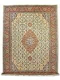 Pak Persian Rugs Handgeknüpfter Tabriz Teppich, Cremefarben, Wolle, Large, 277 X 371 cm
