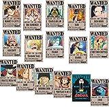 ROSETOR 16 Stück One Piece Wanted Poster 42 cm × 29 cm,