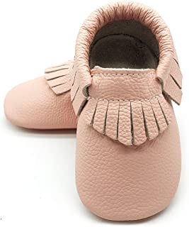 Baby Soft Sole Leather Crib Shoes Infant Toddler Pre-Walker Shoes Boy Girl