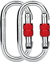 Paliston O-Shape Locking Carabiner - 25kN 5600lb Climbing Carabiner Screw Gate Oval Carabiner