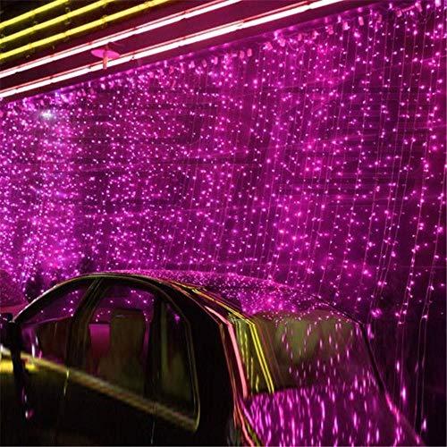 NOVITÀ 10 x 1 M 448 LED per tende per tende da esterno Luce di Natale per feste di Natale Fata per matrimoni LED per tende 220v 110v US AU Spina UE, spina EU, viola