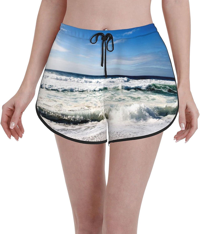 CBKVGV Ladies Shorts Women's Quick Dry Swimwear Trunks Sports Board Shorts