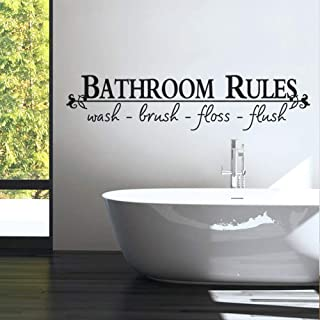 Bathroom rules wall sticker home decor home decoration wall sticker