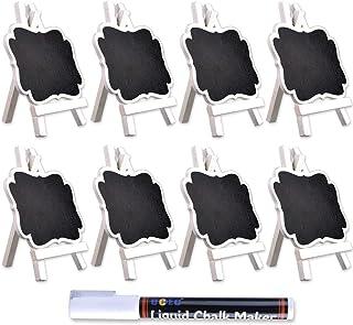 UCEC Mini Pizarras Pizarras Decorativas con Soporte de Cabellete, para Carteles de Mensajes, Bodas, Fiestas, Números de Mesa , Carteles de Alimentos y Decoración de Eventos Especiales Pack de 8