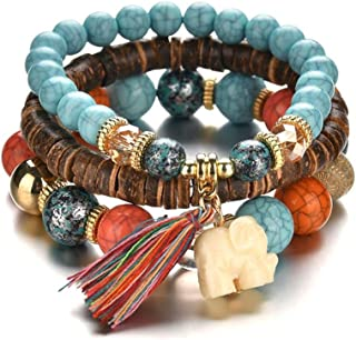 Botrong Jewelry Beads Women Men Charm Bracelets Multilayer Bangles Candy Color