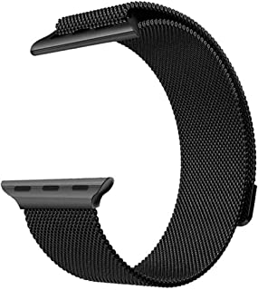 Stainless Steel Watch Band Metal Strap 44mm 42mm (Space Black)