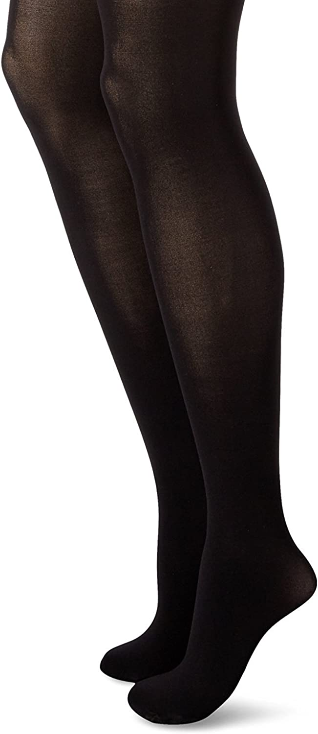 Hanes Womens Firm Control High Waist Power Shapers Opaque Tights, L, Black