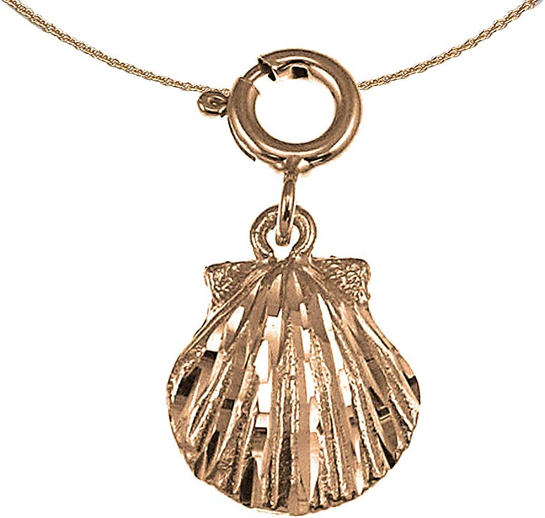 Jewels Obsession Shell Necklace 14K Today's only Spring new work one after another Pendant Rose Gold wi