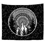 Tapiz de Mandala Bohemio Sky Universe Space Universe Space Apartment Dormitorio Decoración de la habitación Hippie Indio Tapices para Colgar en la Pared