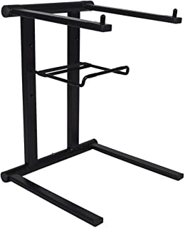 Rockville RLS2400 Lightweight Folding DJ Laptop Stand w/Extra Shelf & Travel Bag