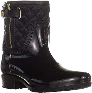 TOMMY HILFIGER Francie Zip Up Mid Calf Rain Boots, Dark Blue