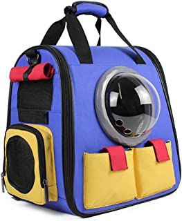 MAOSHE Innovative Traveler Bubble Backpack Pet Carriers Travel Carrier Switchable Mesh Panel for Cats and Dogs Backpack (C...
