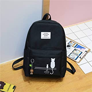 School Backpack Female Fashion Junior High School Backpack Cat Print School Bags for Girls Backpack Teenagers Schoolbag Mo...