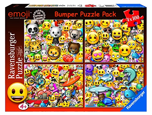 Ravensburger Italy- Emoji Puzzle da 4x100 Pezzi, 6967