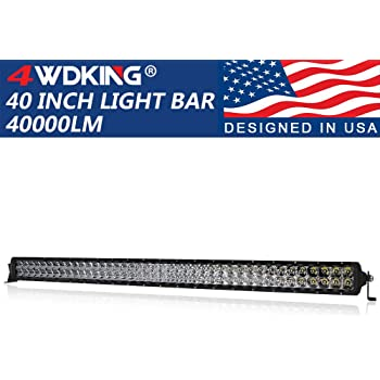 4WDKING USA Design IP68/&IP69K Waterproof Premium LED Combo Off Road Work Light Truck Fog Lamp Mount on Front Bumper and Grille Fit for Ford F150 TOYOTA Tacoma JEEP Wrangler LED Light Bar 6 Inch 2PCS
