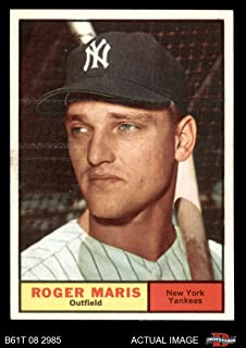 1961 Topps # 2 Roger Maris New York Yankees (Baseball Card) Dean`s Cards 5 - EX Yankees
