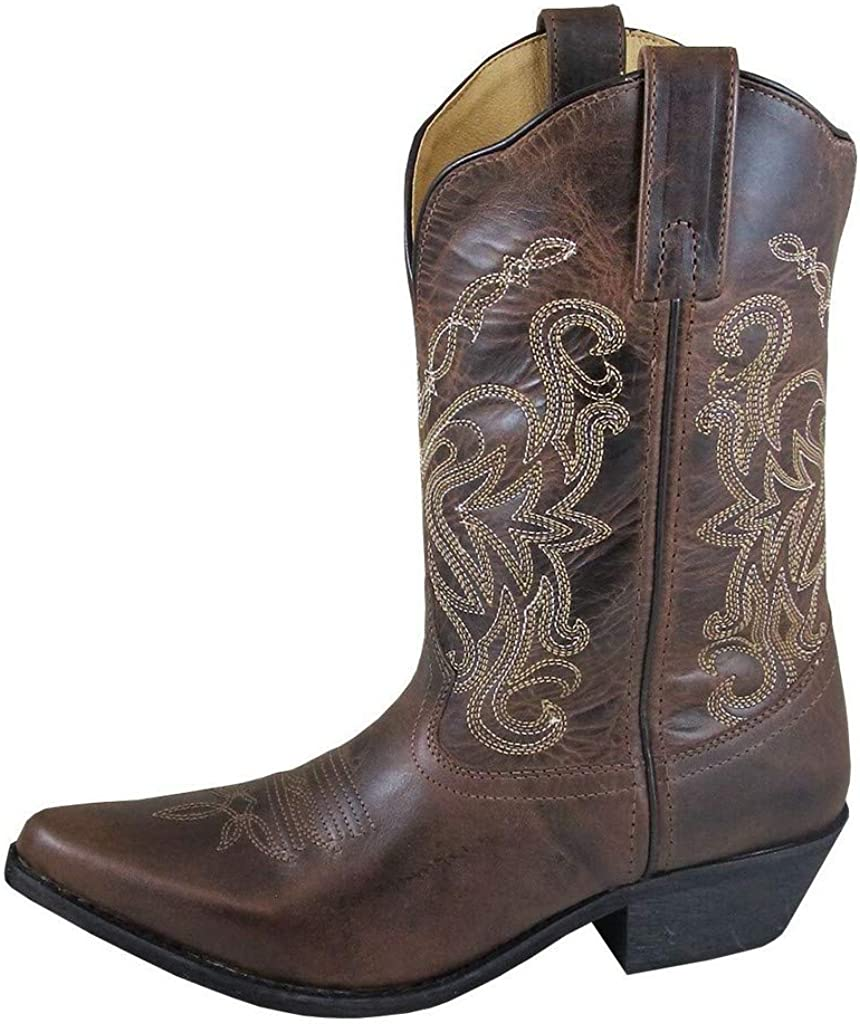 Smoky Mountain Boots   Madison Series   Women's Western Boot   10-Inch Height   Snip Toe Leather   Rubber Sole & Western Heel   Man-Made Lining & Leather Upper   Steel Shank