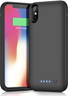 Trswyop Battery Case for iPhone X/XS,6500mAh Portable Rechargeable Charging Case External Battery Pack for Apple iPhone X/XS Protective Charger Case Backup Battery Power Bank (5.8 inch) (Black)