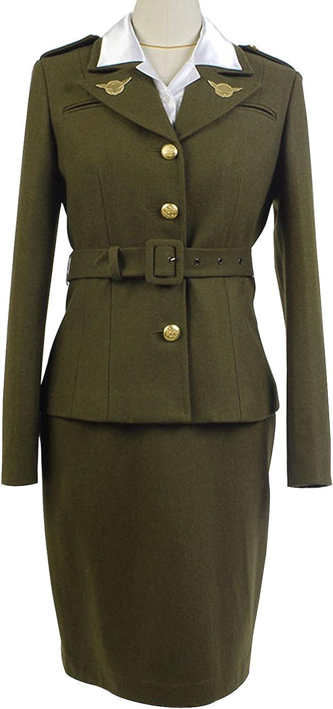 10+ Websites with 1940s Dresses for Sale SIDNOR Womens Officer Womens Officer Margaret/Peggy Carter Dress Cosplay Costume Uniform Suit  AT vintagedancer.com