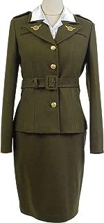 Women's Officer Women's Officer Margaret/Peggy Carter Dress Cosplay Costume Uniform Suit