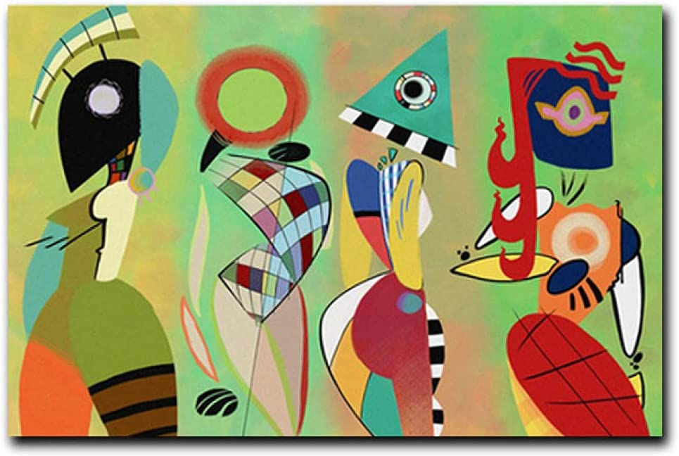 Modern Canvas Paintings Kandinsky Wall National uniform free shipping Painting Abstract Art Oil Selling