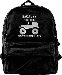 NFtrend Durable Canvas Travel Backpack Portable School Shoulder Bags - MPG TJ JK Rubicon,