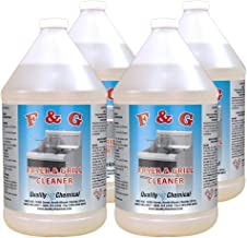 Commercial Fryer and Grill/Griddle Cleaner - Mixture of liquid Caustic Soda. Super Strong !-4 gallon case
