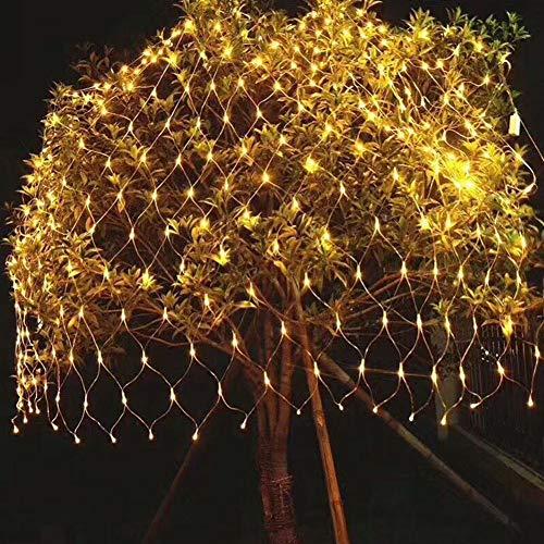 1,5 * 1,5 M Netto Licht, LED Fischernetz Licht, Sternenhimmel Lichterkette, Outdoor wasserdichte Garten Mesh Dekoratives Licht, Reine Farbe Warm White