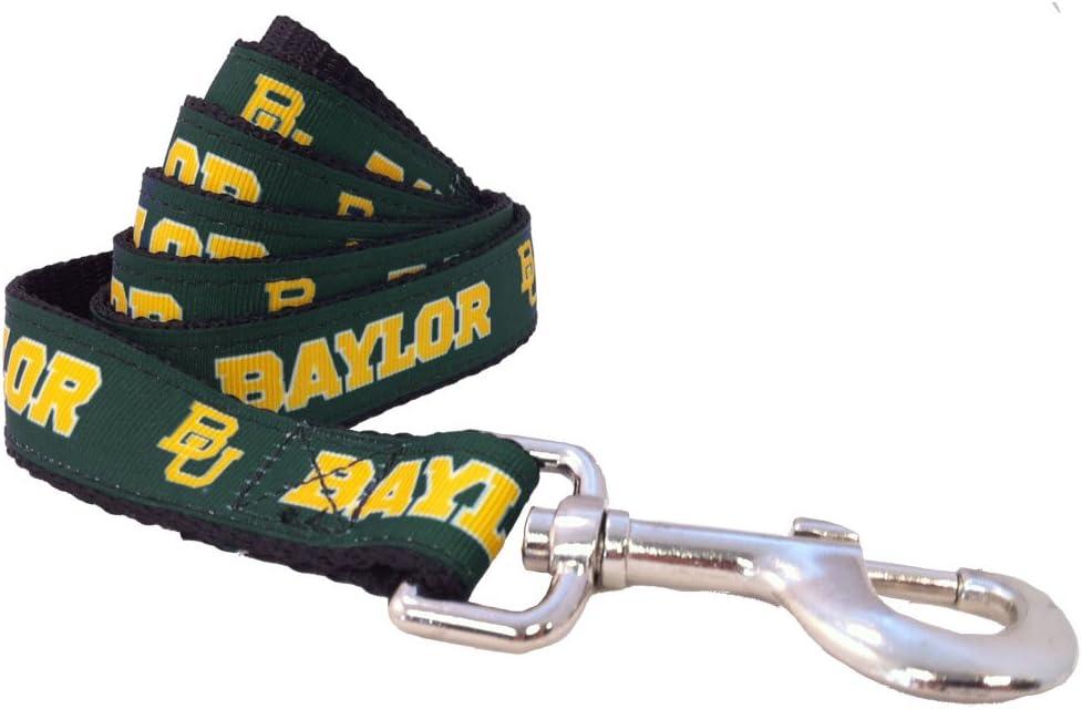 NCAA Baylor Outlet SALE Bears Bargain Dog Leash Green X-Small 4-Feet