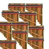 Sanyork Fair Trade 4' Small Pan Flute One Dozen Pack Wholesale Musical Instrument Peru *000637*