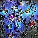 (Paquete de 24) Luces LED de interior 3D Adhesivos de pared mariposa luminosas decoraciones para el hogar Luces para el...
