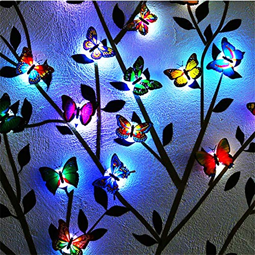 (Pack of 24)3D Luminous Butterfly Wall Stickers Decor Art Decorations, Home Decorations Art Decor Wall Stickers for Wall Decor Home Art Kids Room Bedroom Decor