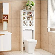 N/Z Home Equipment Bathroom Storage Cabinet Over The Toilet Space Saver Bathroom Organizer with two door Collect Cabinet W...