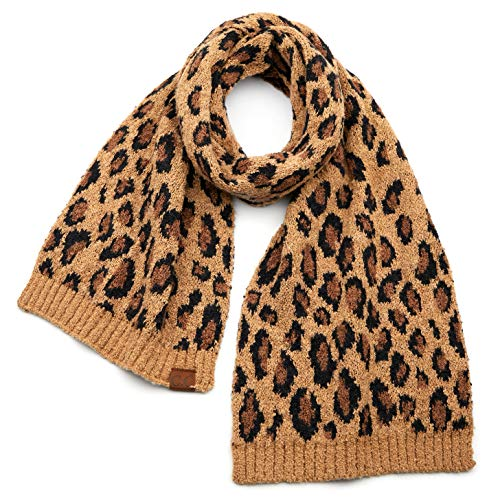 CC Exclusives Leopard Pattern Soft Touch Oblong Scarf SF7001 LatteKnit