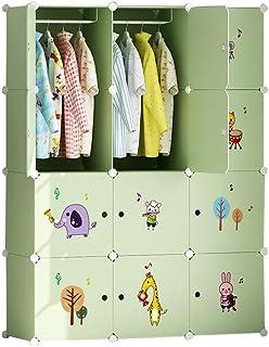 Penderies Simple Armoire Enfant Accueil Chambre de Tissus en Plastique Tissu bébé Simple Débarassas Moderne Assemblage Liu...