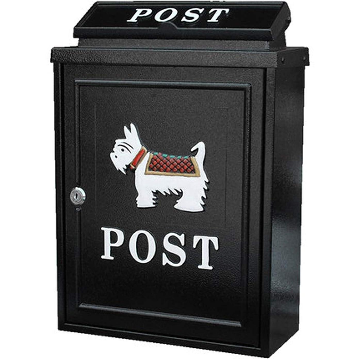 マルクス主義不可能な翻訳SHYPwM ヨーロッパの別荘のレターボックス屋外の提案箱雨水郵便箱付き郵便ポストの庭クリエイティブレターボックス (色 : ブラック)